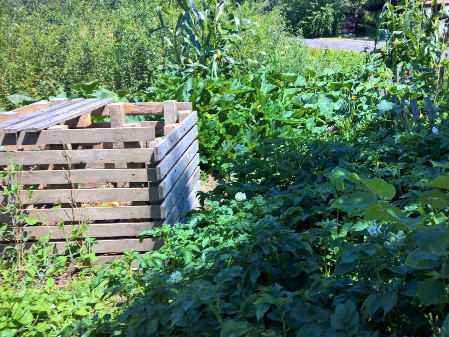 Garten pflegen in Siegburg mit Kompostmiete aus Paletten